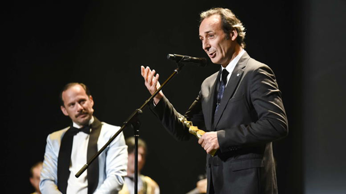 Alexandre Desplat receives Honorary Golden Iris in Athens
